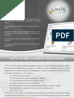 InsTIL asset management and service desk tool brochure