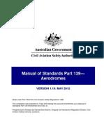 Civil Aviation Safety Authority Australia Manual of Stnadards (MOS) 139