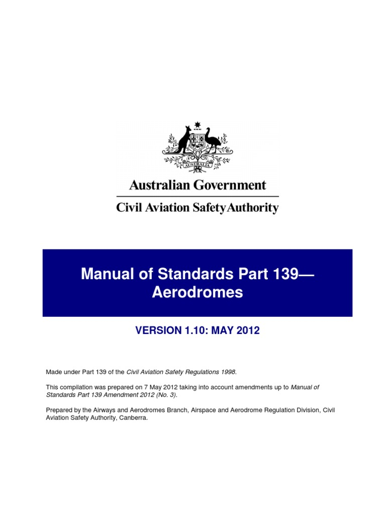 casa manual of standards part 139 ultimate user guide u2022 rh ukhomes co FAR Part 139 PDF manual of standards (mos) – part 139 aerodromes