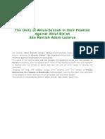 Ahlus-Sunnah Position Against Ahlul-Bidah