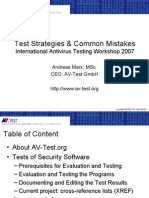 Test Strategies & Common Mistakes
