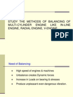 STUDY THE METHODS OF BALANCING OF MULTI-CYLINDER ENGINE