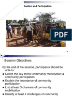 Community Mobilisation and Participation