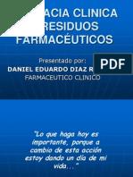 Farmacia Clinica y Residuos Farmaceuticos