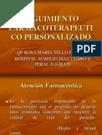 SEGUIMIENTO FARMACOTERAPEUTICO PERSONALIZADO