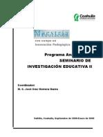 Programa Seminario de Investigación Educativa II 08
