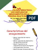 FARMACOLOGÍA GERIATRICA - USO DE MEDICAMENTOS