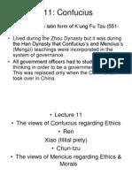 Confucius and Ethics