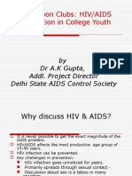 HIV Intervention in College Youth by Red Ribbon Clubs
