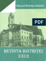 Revista Bistritei XXI 2 2007