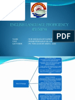 English Language Proficiency Ppt