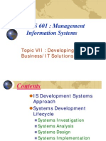 TopicVII Information Systems Development