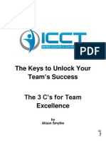 The Keys to Unlock Your Teams Success