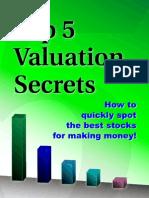 Top 5 Valuation Secrets