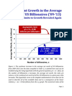 The Recent Growth in the Average Worth of US Billionaires ('09-'13)