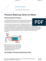 Pressure Reducing Valves for Steam