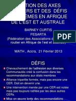 Gestion des Axes Routiers et des Défis Problèmes en Afrique de l'Est et Australe