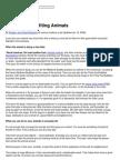 Advice on Benefiting Animals