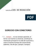 EJERCICIOS  DE REDACCIÓN