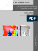 On-line Diagnostic Monitoring for Large Power Transformers