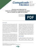 [Embrapa] Procedimentos para elaboração e mapas de declividade e comprimento de rampa para os estados da região sul do Brasil