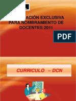 PREPARACIÓN EXCLUSIVA PARA NOMBRAMIENTO DE DOCENTES 2011