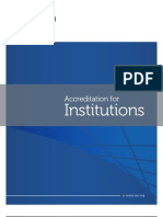 Accreditation for Institutions