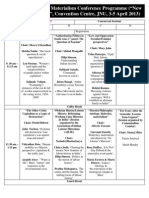 Programme of The Delh Historical Materialism Conference - New Cultures of the Left; Convention Centre, Jawaharlal Nehru Univeristy, New Delhi, 3-5 April 2013