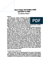 Technical Change and Dualism Within Agriculture in INdia