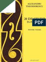 Al. Theodorescu - 20 studii in pozitia I pt. vioara