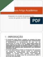 7 - Projeto para Artigo Acadêmico