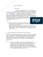 Handbook on Interview Questions