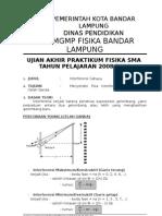14671926 Ujian Praktik Fisika 2009 Interferensi Cahaya
