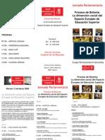 Programa Jornada Proceso de Bolonia