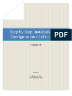 Step by Step Install Configuration of vCenter Server 5.0 on a Windows Host