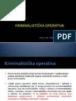 1Kriminalisticka Operativa I