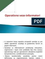 Operativne Veze Informatori