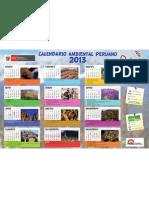CALENDARIO AMBIENTAL PERUANO 2013