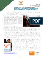 EXPRESA MOVIMIENTO CIUDADANO SOLIDARIDAD Y RESPALDO A DIPUTADA AÍDA VALENCIA RAMÍREZ