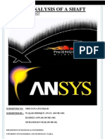 Fatigue Analysis of a Shaft on Ansys