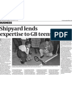 03152013. the Nassau Guardian. Shipyard Lends Expertise to GB Teens
