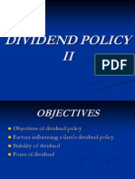 Dividend Policy II