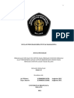 PKM GT pemakaian GPS dan GIS untuk para pendaki gunung.doc