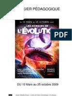Dossier pédagogique de l'exposition Les sciences de l'évolution, Poitiers, 2009