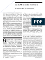 Effect of Endogenous GLP-1 on Insulin Secretion in Type 2 Diabetes