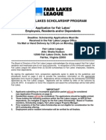 2013 Scholarship Application