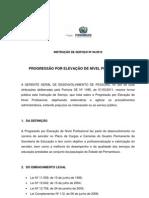 Instrução de Serviço nº 04 - PROGRESSÃO POR ELEVAÇÃO DE NÍVEL PROFISSIONAL(1) (4)
