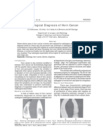 Radio Logical Diagnosis of Horn Cancer