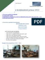Înscrierea în învățământul primar 2013  IG