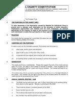 The Pendsey Trust- Constitution